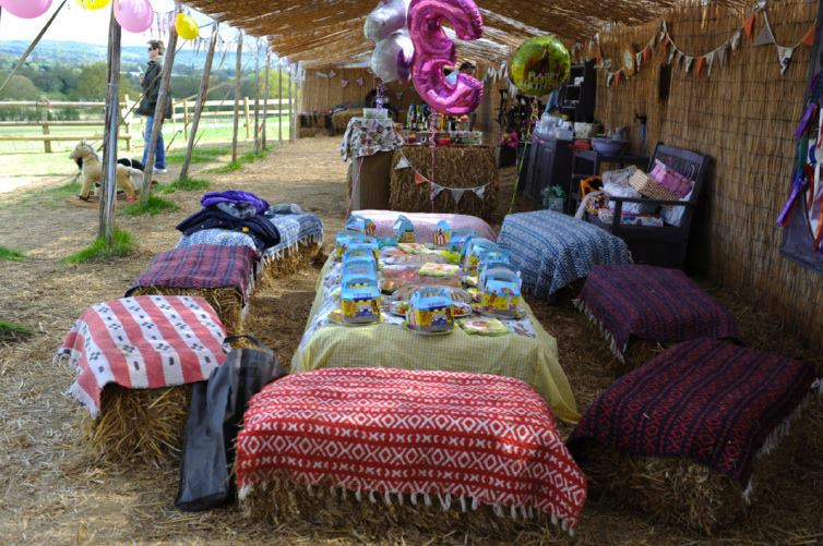 Party tea set up at the Shetland Pony Club Ranch
