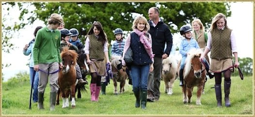 Enjoying riding at Shetland Pony Club