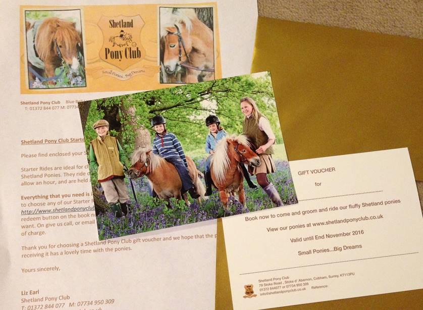 Shetland Pony Club Gift Vouchers