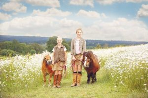 Shetland pony Walking