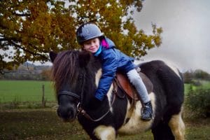 Children love their ponies at Shetland Pony Club