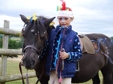 Dressing up on Camp at Shetland Pony Club