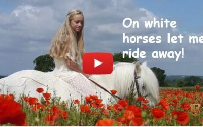 On white horses let me ride away!