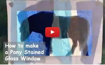 Make a Pony Stained Glass Window and Pony Update